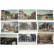 """Lot 66 Misc """"A"""" and """"B"""" town c1910 Postcards from Maine"""