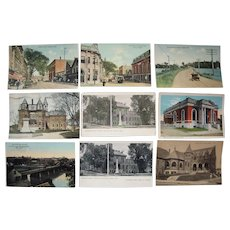 "Lot 66 Misc ""A"" and ""B"" town c1910 Postcards from Maine"