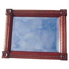 """Antique Ornate Walnut Victorian Beveled Mirror 12"""" x 16"""""""