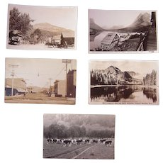 Lot 5 Real Photo Postcards of Montana
