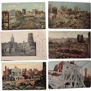 Lot 6 Postcards 1904 Fire at Baltimore, MD