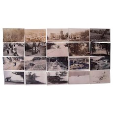 Lot 20 Michigan Real Photo Postcards c1940s