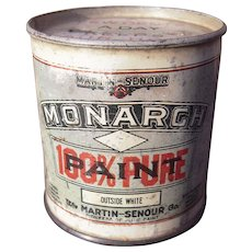 c1910s Tin Advertising Bank for Martin Senour Paints