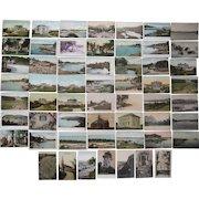 "Lot 56 c1910 Postcards of Maine ""C"" Towns"
