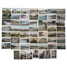 "Lot 56 c1910 Postcards of Maine ""C"" Towns"