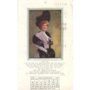 Lot 5 Advertising 1910 Calendar Months Postcards of Pretty Women