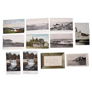 "Lot 82 c1910 Postcards of ""D, E, F, G and H"" Towns in Maine"