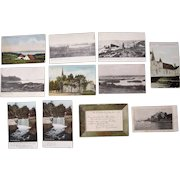 """Lot 82 c1910 Postcards of """"D, E, F, G and H"""" Towns in Maine"""