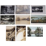 """Lot 65 c1910 Postcards of """"I, J, and K """" Towns in Maine"""
