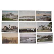 """Lot 63 c1910 Postcards of """"L"""" Towns (Mainly Lewiston) in Maine"""