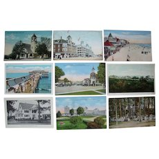 Lot 70 c1910 Postcards of Old Orchard, Maine