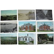 """Lot 63 c1910 Postcards of """"P and R"""" Towns (No Portland) in Maine"""