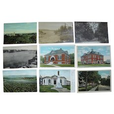 "Lot 63 c1910 Postcards of ""P and R"" Towns (No Portland) in Maine"
