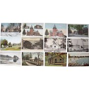 """Lot 99 c1910 Postcards of """"S"""" Towns in Maine"""