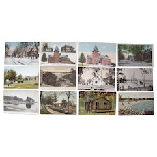 "Lot 99 c1910 Postcards of ""S"" Towns in Maine"
