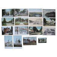 """Lot 118 c1910 Postcards of """"T, W, Y and Misc"""" Towns in Maine"""