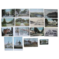 "Lot 118 c1910 Postcards of ""T, W, Y and Misc"" Towns in Maine"