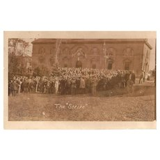 1909 Real Photo Postcard of Strike at U of Maine in Orono