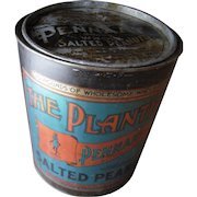 c1910s Large Advertising Tin for Planters Pennant Salted Peanuts