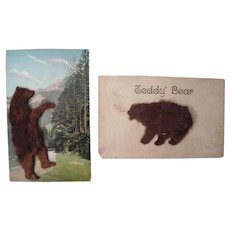 Lot 14 1906/1907 Teddy Bear w/Applied Fur Postcards