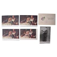 Lot 6 Early 1900s Edison Phonograph Advertising Postcards