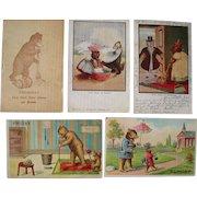 Lot 5 Misc. Days of the Week Teddy Bear Postcards 1906-1907