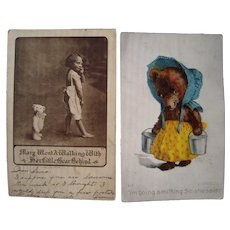 Lot 13 1906/1907 Misc and Humorous Teddy Bear Postcards incl. 1 Artist Signed