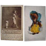 Lot 6 1906/1907 Misc Teddy Bear Postcards incl. 1 Artist Signed