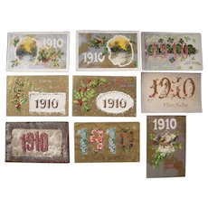 Lot 9 1910 Year Date ( New Year's) Postcards