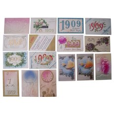 Lot 16 1909 Year Date (New Year's) Postcards