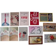 Lot 12 Postcards 23 Skidoo (from 1906-1912)
