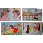 Lot 27 Leap Year Postcards (Mostly 1908 and 1912)