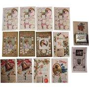 Lot of 14 1911 Calendar Postcards