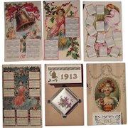 Lot 6 1912/1913 Calendar Postcards