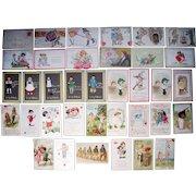 Lot 36 c1910s Valentines Day Postcards