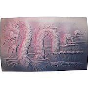 Lot 7 Embossed Sea Serpent Postcards, c1910