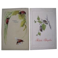 Lot 10 c1910 Pfingsten / Easter Postcards w / Insects