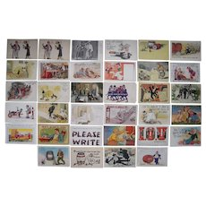 Lot 34 Drinking/Drunks Postcards c1900s/1910s #1