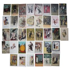 Lot 37 Drinking/Drunks Postcards c1900s/1910s #2