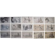 Lot 15 Charles Gibson Postcards c1900s