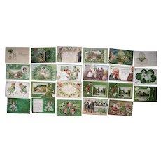 Lot 23 St. Patrick's Day Postcards 1900s/1910s #1