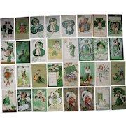 Lot 32 St. Patrick's Day Postcards 1900s/1910s #2