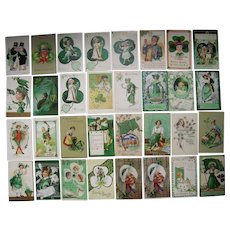 Lot 32 St. Patrick's Day Postcards 1900s/1910s #2
