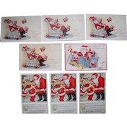 Lot 8 Santa (Christmas) Postcards 1910s