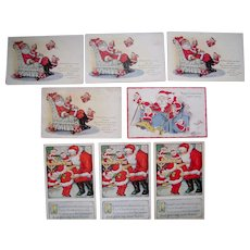 Lot 8 Santa (Christmas) Postcards 1910s