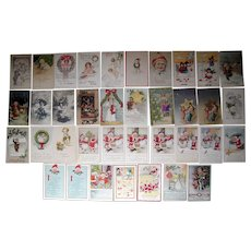 Lot 37 Christmas Postcards 1900s/1910s #1