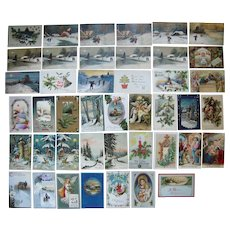 Lot 43 Christmas Postcards 1900s/1910s #3