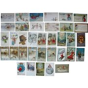 Lot 35 New Years Postcards 1900s/1910s
