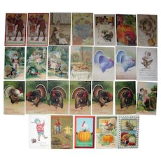 Lot 26 Thanksgiving Postcards c1900s/1910s #1