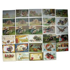 Lot 29 Thanksgiving Postcards c1900s/1910s #2